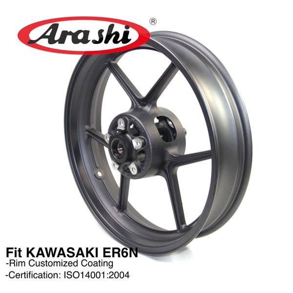 new design biggest discount top quality 2019 Arashi ER 6N Front Wheel Rim For Kawasaki ER6N 2009 2012 2010 2011  Motorcycle Accessoires CNC Aluminum NINJA ZX10R Z750 Z800 Z1000SX From ...