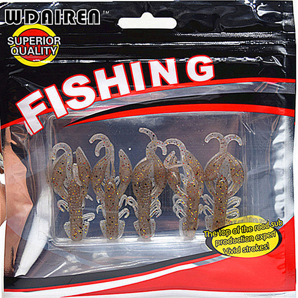 Hot Sell 5 pcs/Lot Plastice Soft Fishing Lure 50mm 2.2g floating Salt Smell Attractive Fish Crab Fishing Bait Soft Bait FA-343 C18110301