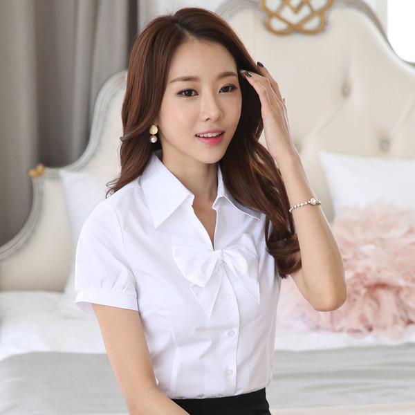 z05a / Primavera Blusa Branca Camisa de Verão Blusas Femininas Roupas Roupas de Trabalho Roupas Baratas China Feminina Mulheres Tops Blusas Formais