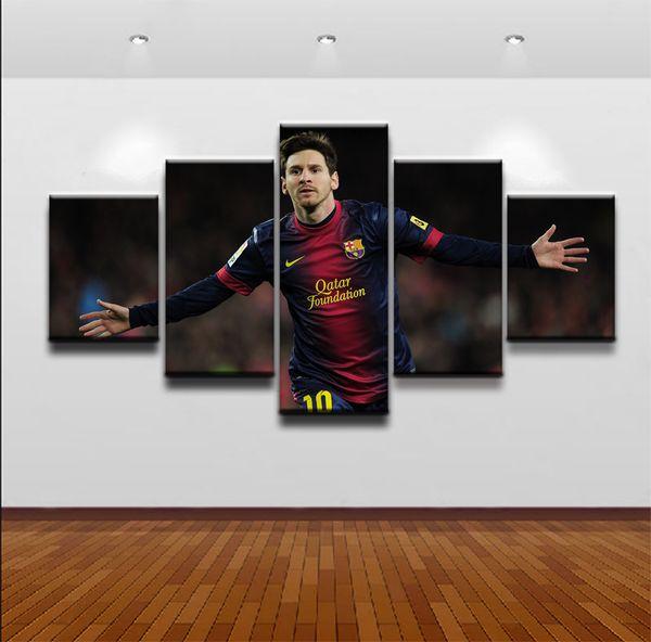5 pezzo Tela Pittura Argentina Lionel Messi canvas poster stampa per soggiorno camera dei ragazzi decorazione della casa no frame