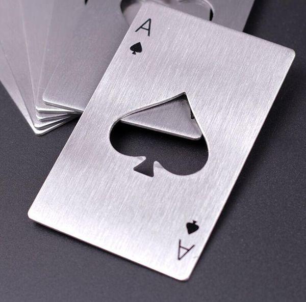 1X Neu Flaschenöffner Bieröffner Spielkarte Poker Pik AS