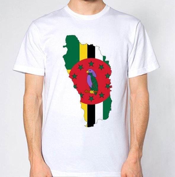 Dominica New T-Shirt Country Flag Top City Map