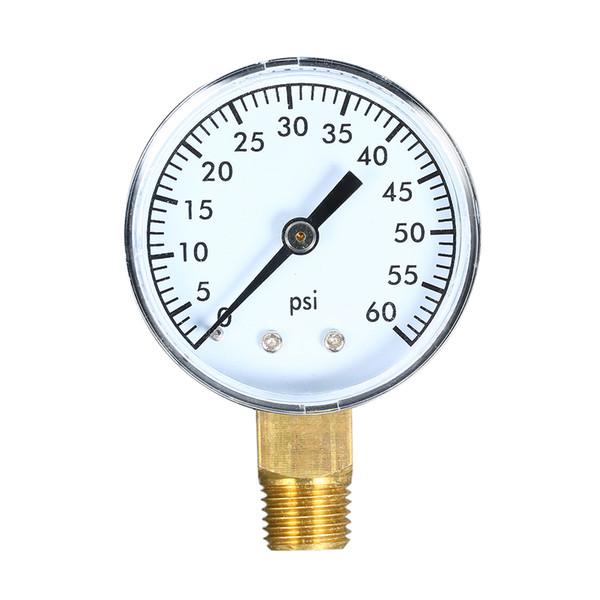 0 ~ 60 psi jauge de pression mécanique filtre piscine aquarium eau jauge de pression manomètre 1/4 pouce mesureur de pression NPT