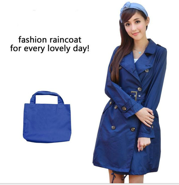 Japanese cute Korean fashion raincoat poncho outdoor female adult adult trench coat