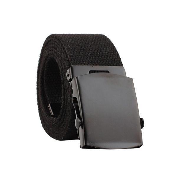 Belt Men Women Black 2019 Belt Automatic Fashion Nylon Buckle Fans Canvas Belts cintos de mujer-30