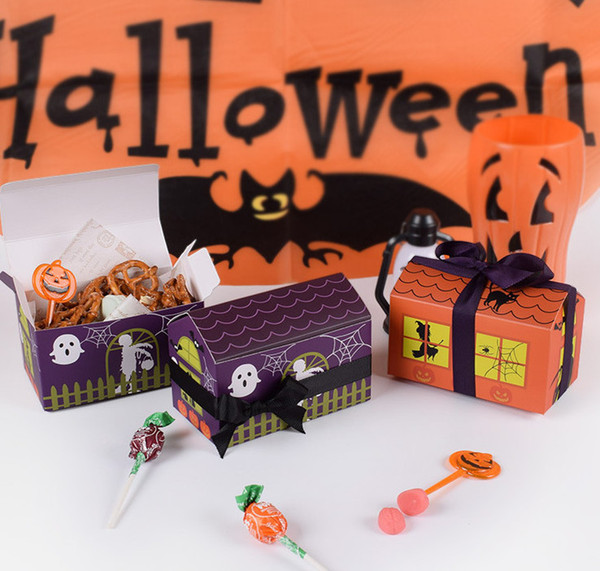 2018 New hot sale Halloween little house Cookie Candy Box creative Halloween baked packaging