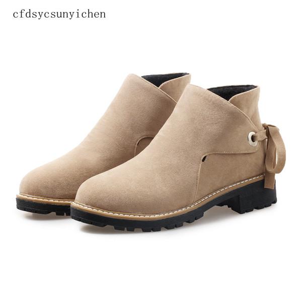 2018 N обувь женщины ботильоны высокое качество стадо женщина сапоги Med квадратных каблуки Женская обувь с большой размер 10