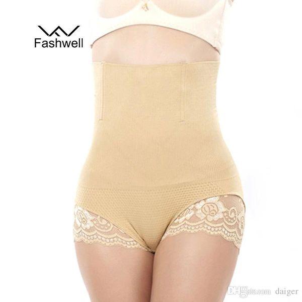 Wholesale- Hot body shaper women lace seamless control panties underwear high waist style corsets waist cincher body shaper panty
