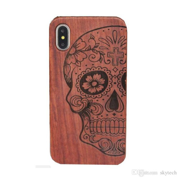 Cool!! Genuine Wood Case For Iphone Hard Cover Carving Wooden Phone Shell For samsung cellphone Bamboo Housing Luxury Retro Protector