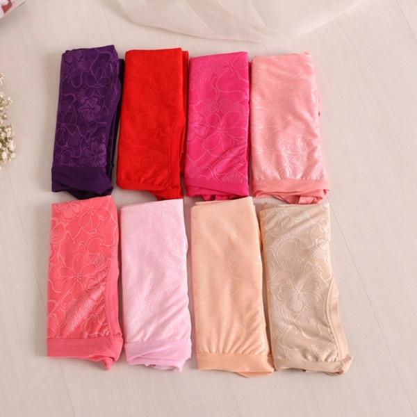 Cheap wholesale 10Pcs/lot Lace Flower Sexy Lingerie women underwears plus size 6XL big size women's panties briefs