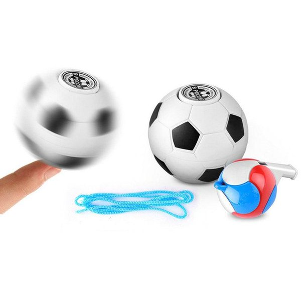 5pcs Mini Finger Football Basketball Hand Spinner EDC Stress Relief Gyro Toy Stress Relief Toy Gift Whistle Novelty Items