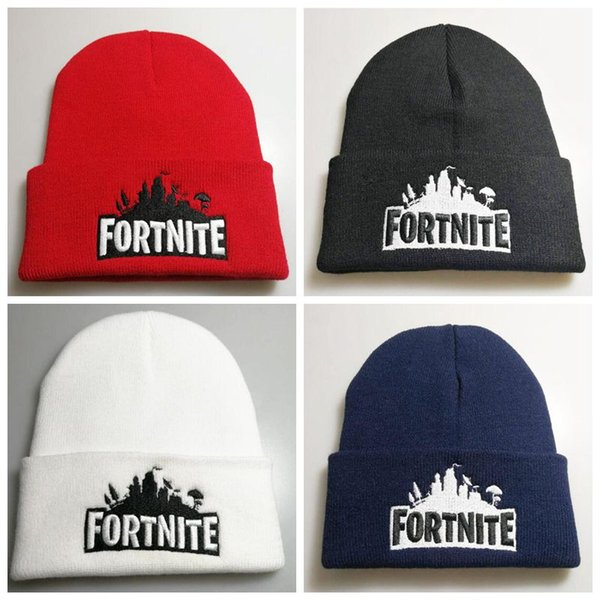 4 Colors Game Fortnite Knitting Caps Teenager Winter Warm Hat Unisex Warm Knitted Beanies Hats Hip Hop Sports Hat CCA10245 30pcs