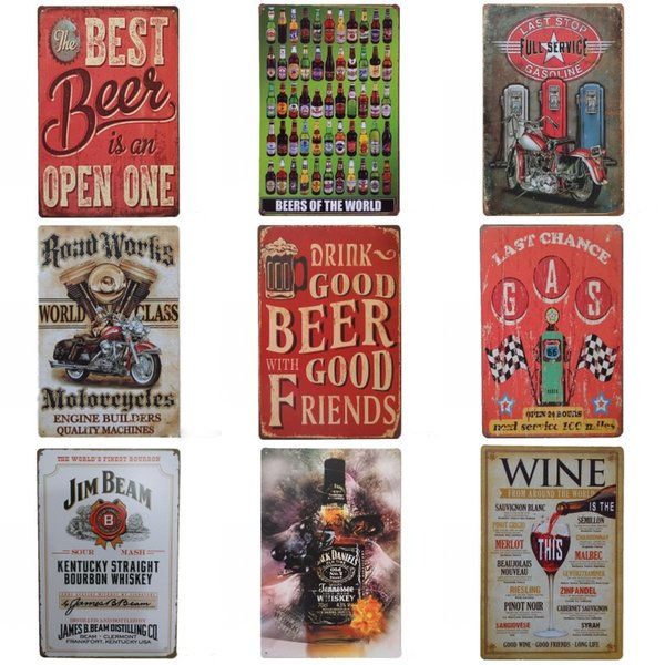 best selling Drinking Beer Retro Design Tin Poster Popular Unique Tins Sign For Bar KTV Hang Practical Atmosphere Iron Painting High End 20*30cm ZZ