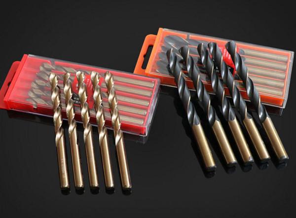 top popular Two-tone Cobalt Drill Bits For Metal Wood Working M35 HSS Co Steel Straight Shank 9-14mm Twist Drill Bit Power Tools Mayitr 2021