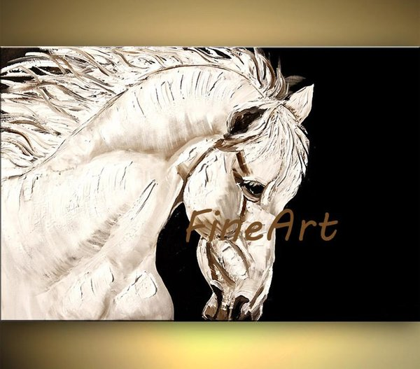 high quality hand-painted oil wall art palette knife horse canvas art home decoration oil painting unique gift Kungfu Art
