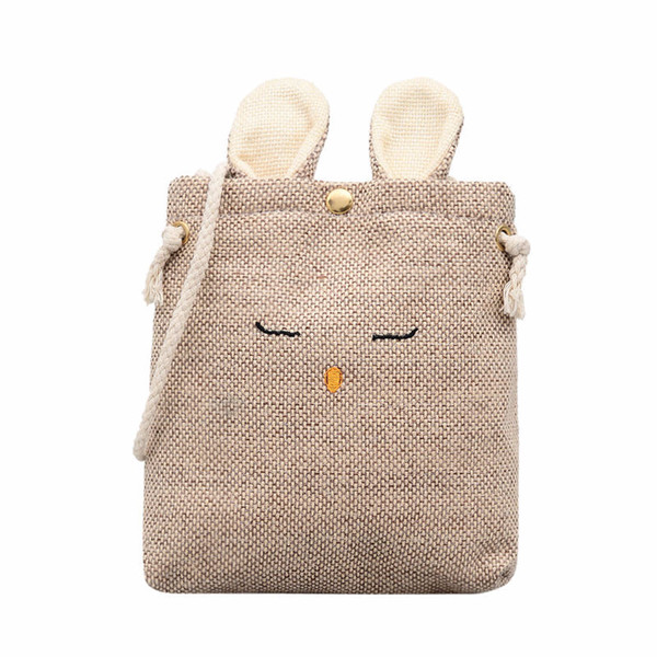 2018 New Arrival Environmental Protection Shoulder Bags MINI IPhone Canvas Shoulder Bags Summer Small MINI Messenger Tote Bags Y18102004