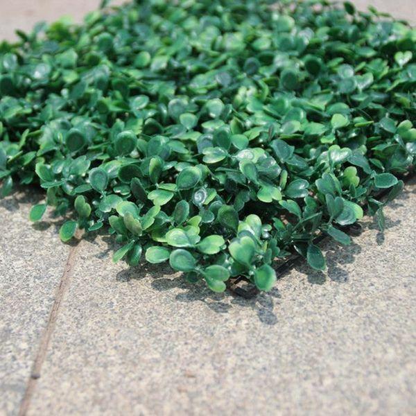 25 CM * 25 CM Grama Artificial de plástico boxwood mat topiary árvore de grama de Milão para o jardim, casa, loja, decoração do casamento plantas artificiais