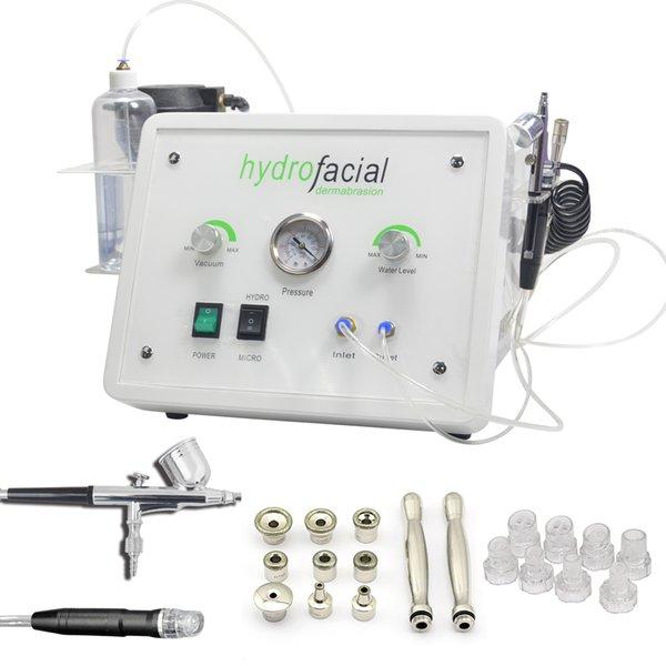 2017 NOVA Hydra Aqua Peeling 3 em 1 Jato de Água De Oxigênio Hidro Dermoabrasão Pele Peeling Hydra Facial Máquina
