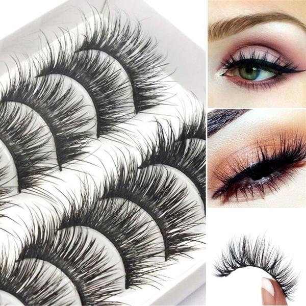 3ae1d6adba2 New Style 10 Pair 3D Long Thick False Eyelashes Ultra-Long Lasting Lashes  Natural Mink