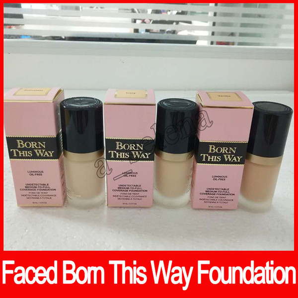 2017 NEW Arrival Faced Makeup Born This Way COVERAGE Foundation Liquid 12 colors Long Lasting Foundation