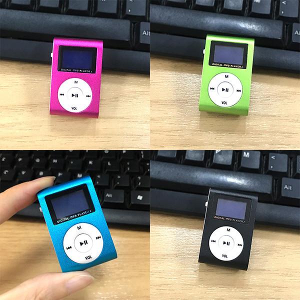 FORNORM Portable MP3 Music Player USB Clip Mini LCD Screen Support 32GB Micro SD TF Card