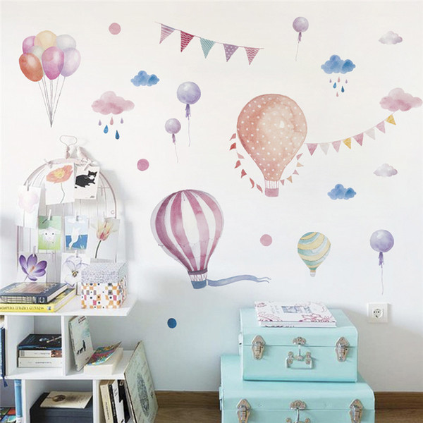 Home Decoration Posters Stickers Balloons Flag Animals Rain Car For kids rooms decals children bedroom kindergarten Decoration wall