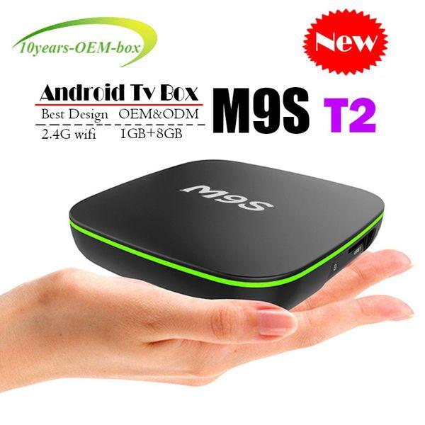 2018 Cheapest M9S T2 Android 7.1 Tv Box Quad Core 1GB 8GB H3 Chip Support Wifi 4K 3D Media Player Smart Tv Box Better X96 MINI