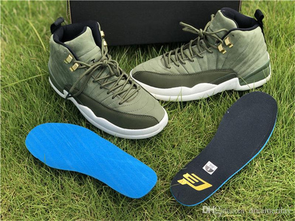 228e9d2b51fc1b 2018 Authentic 12 Graduation Pack Basketball Shoes For Man Chris Paul Green  Suede Sports Sneakers 12S