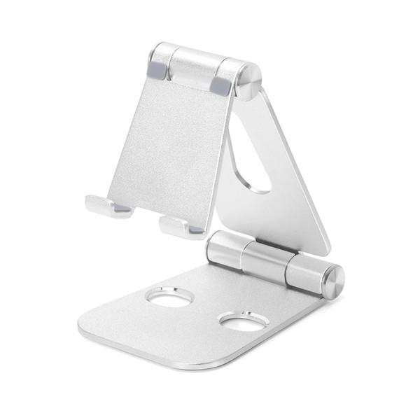 Multi-angle Adjustable Phone Holder Aluminum Metal Foldable Mobile Phone Tablet Desk Holder Stand for iPad iPhone