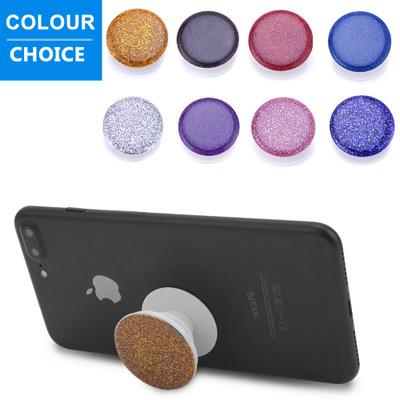 top popular 2018 New Fashion glitter Universal Phone Holders 3M Glue support Stands Latest Grip for Tablets with PE package 2019