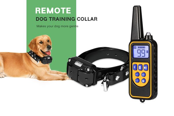 Rechargeable Dog Pet Electric Training Collar Waterproof Remote Control Dog Trainings with LCD Display for All Size Dogs 800m