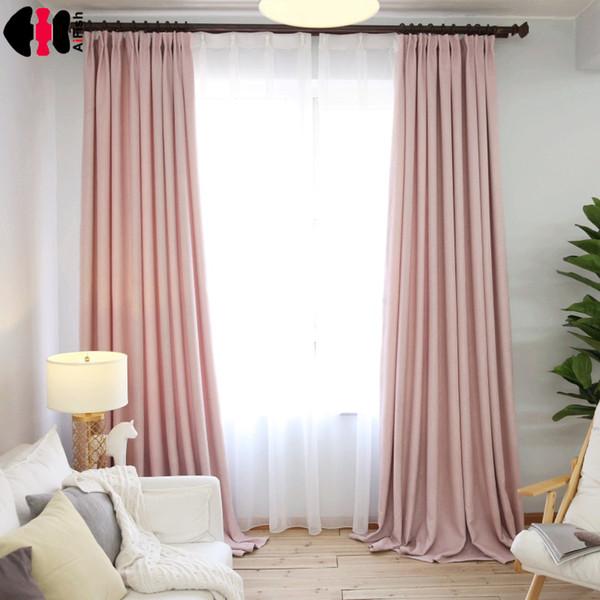 Großhandel Simple Style Pink Linen Cloth Room Decor Vorhänge Fenster  Vorhänge Für Fenster Vorhang Wohnzimmer Lila Gardinen WP199B Von Isaaco,  $23.88 ...