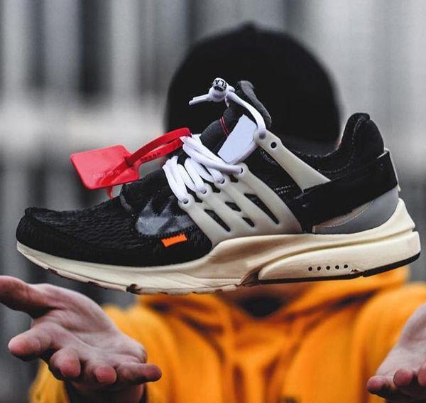 [С оригинальной коробке] десять Prestos кроссовки для женщин мужчин бренд дизайнер Белый спортивные кроссовки 5.5-11