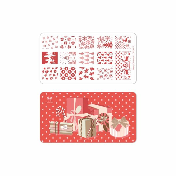 CICI&SISI Merry Christmas Manicure Style Nail Art Stamping Plates Stamping Stamp Template