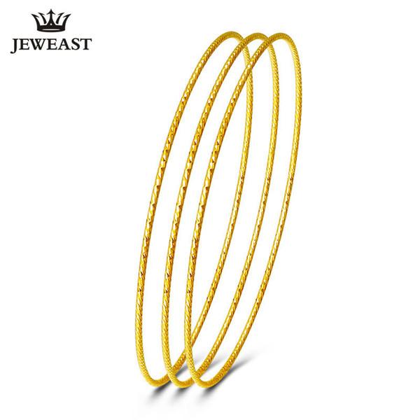 18k Pure Gold Bangles 2017 New Rose Yellow Women Bracelets Customize 750 Hot Sale Elegant Temperament Party Classic Round GOOD S18101507