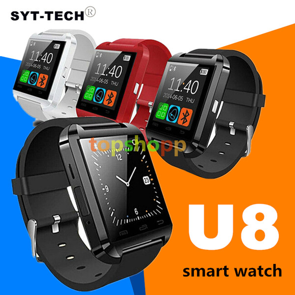 U8 Bluetooth Smart Watch U8 Watch Wrist Smartwatch for iPhone 6 6S 6 plus 7 7s 8 Samsung S6 S7 Note 4 Note 5 Android Phone Smartphones 220pc