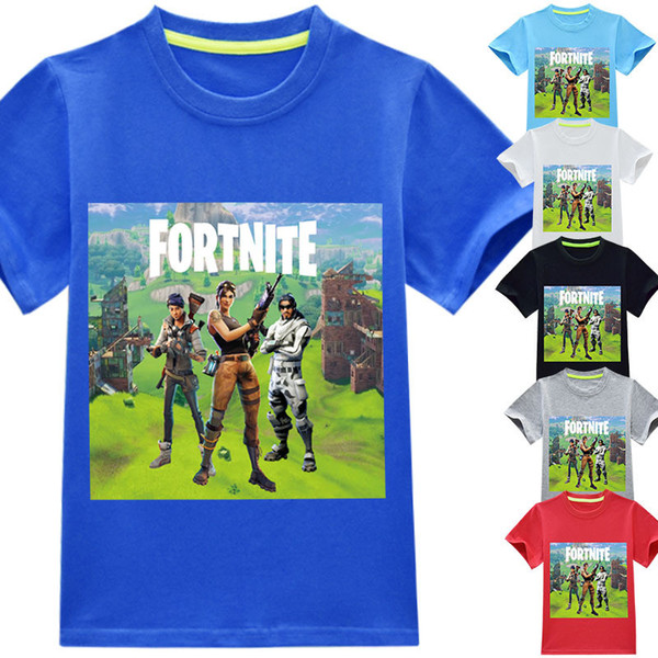 boys girls fortnite t shirts 2018 new children game cartoon cotton short sleeve t shirt baby kids clothing for 3 14years 40 style b11
