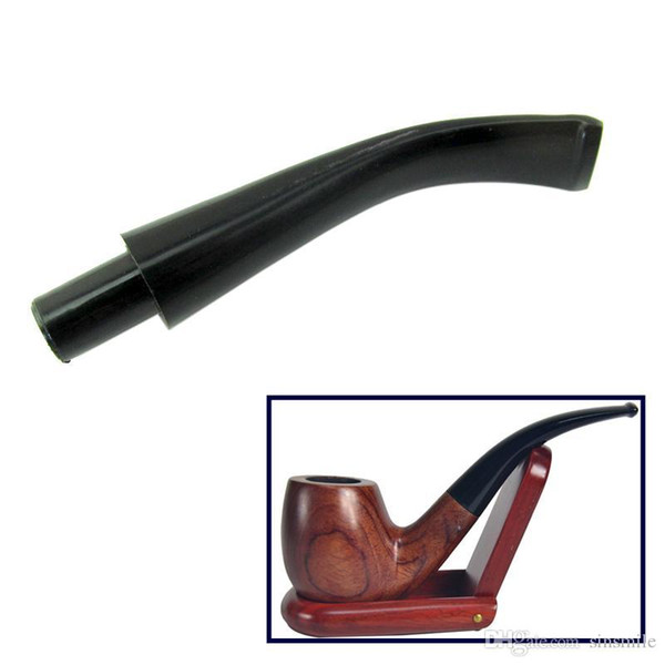 Wholesale- DIY Pipe Stem Mouthpiece Bent Taper 9mm Filter with Activate Carbon Filter Mouthpiece Smoking Pipe Accessories