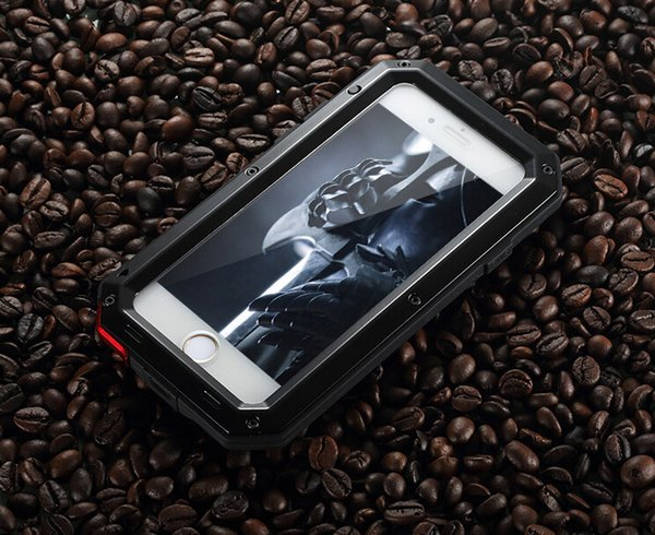 best website 61bc3 d46f6 High Quality Doom Armor Shockproof Dropproof Rain Waterproof Metal Case For  Iphone 7/8 7s/8s With Gorilla Glass Aluminum Cover Fashion Item Make Your  ...