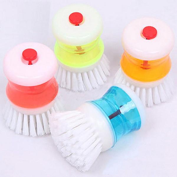 Vendita calda all'ingrosso 200pcs nuova spazzola di pulizia della cucina di modo che aggiunge liquido automatico lava i piatti spazzola