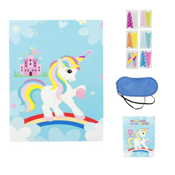 pin the horn on the unicorn fun kids birthday party favors home