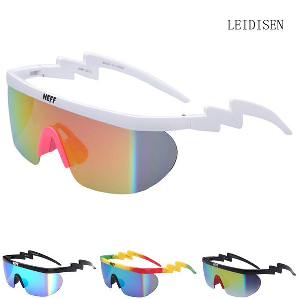 Neff Sunglasses Mens Brand Designer women uv400 Big Frame Coating Sun Glasses 2 Lens feminino Eyewear Unisex