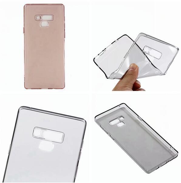 Transparenter klarer bunter weicher TPU Fall für Samsung-Galaxie NOTE9 ANMERKUNG 9 Kristallsilikon-Gel-Mode-Handy-Haut-Abdeckung 20pcs