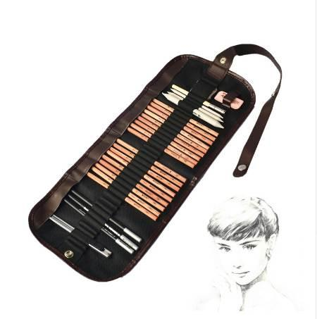MARCO beginner sketch Tools 8 piece suit + rubber + charcoal pencil mark + papercurtain knife