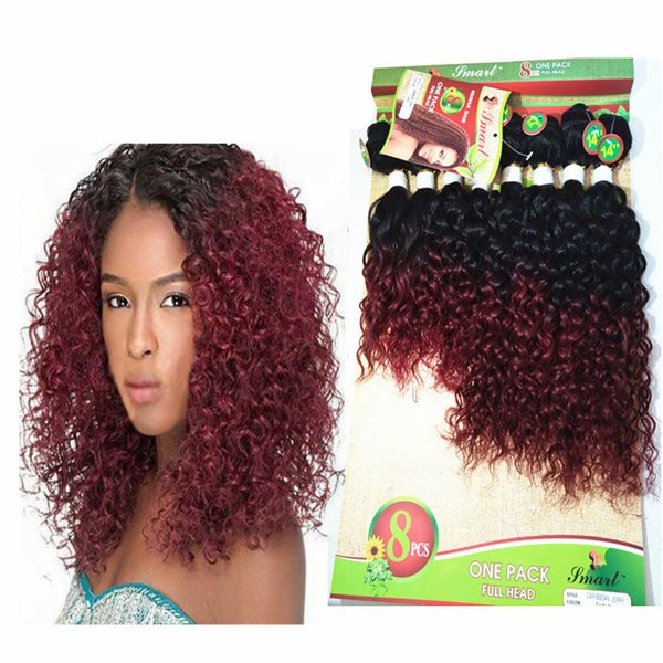 Cheap Malaysian Curly Hair 8bundles Full Head Wearing Human Hair Weave Tight Kinky Curly Hairstyles For Women 8 10 12 14inches Jerry Curls Hair Jewels