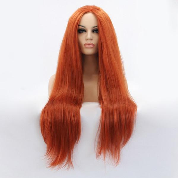 Großhandel Kupfer Orange Rote Haare Lange Gerade Make Up Haar Spitze Vorne Perücke Perücken Für Frauen Von Dong1220 4321 Auf Dedhgatecom Dhgate