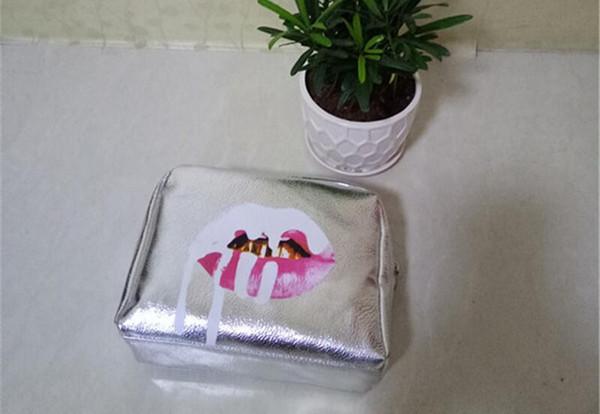Kylie Jenner bolsas Cosmetics Birthday Bundle Bronce Kyliner Copper Creme Shadow Lip Kit Maquillaje Bolsa de almacenamiento