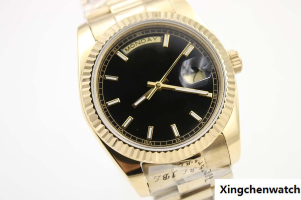 AAAA new hot sell gentleman men luxury luxury day date 18K luxury automatic original AAAA gift watch free delivery
