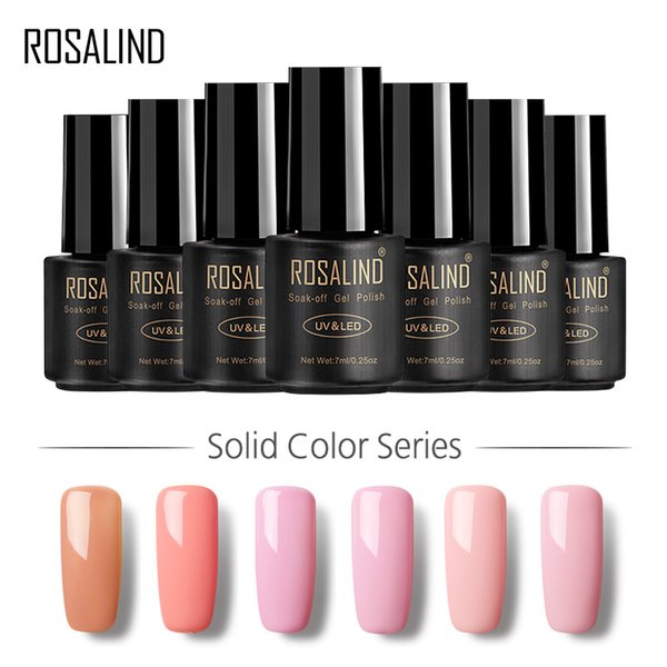 ROSALIND Gel 1 7ML 31-58 Pure Colours Gel Nail Polish Soak-Off UV Classic Colors Long-lasting Nail Lacquer Primer Varnish