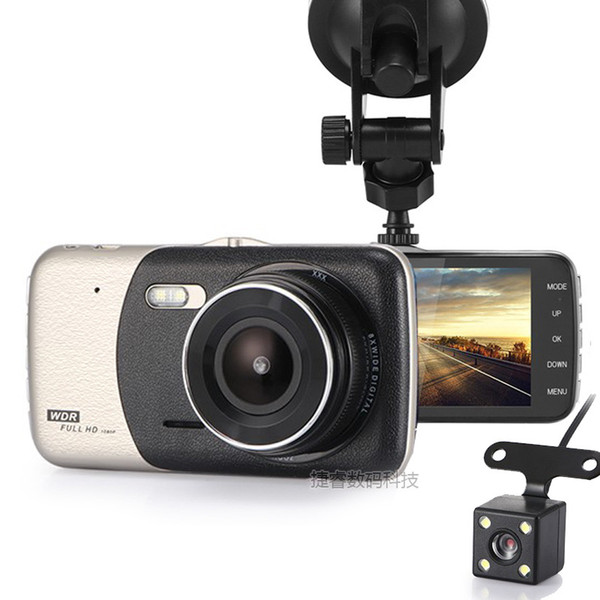 3.8Inch IPS Screen Car DVR Double Camera Dual Recording Full HD 1080P Video 140 Degree Dash Cam retail package 10pc